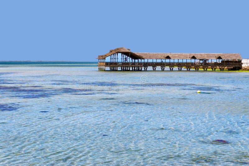 Landscape Djerba Cost in Tunisia, Africa. Panorama of the Djerba Cost in Tunisia, Africa royalty free stock photos