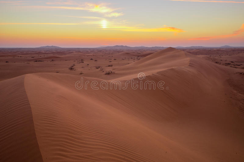 Landscape Dunes. Wild dunes far away from city more than 70 km driving through curvey dunes stock photography