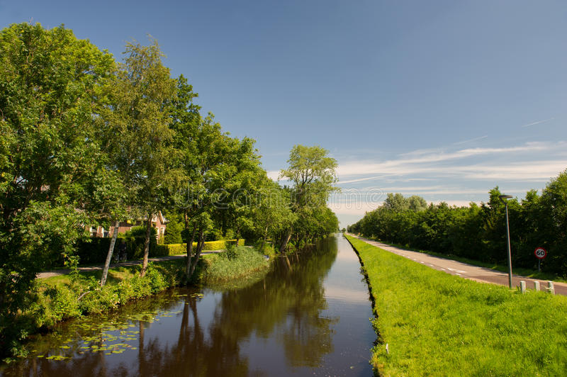 Landscape in Dutch Friesland stock image