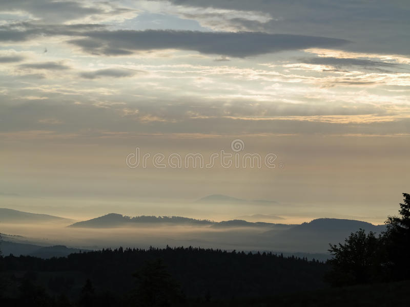 Landscape in the early morning stock photos