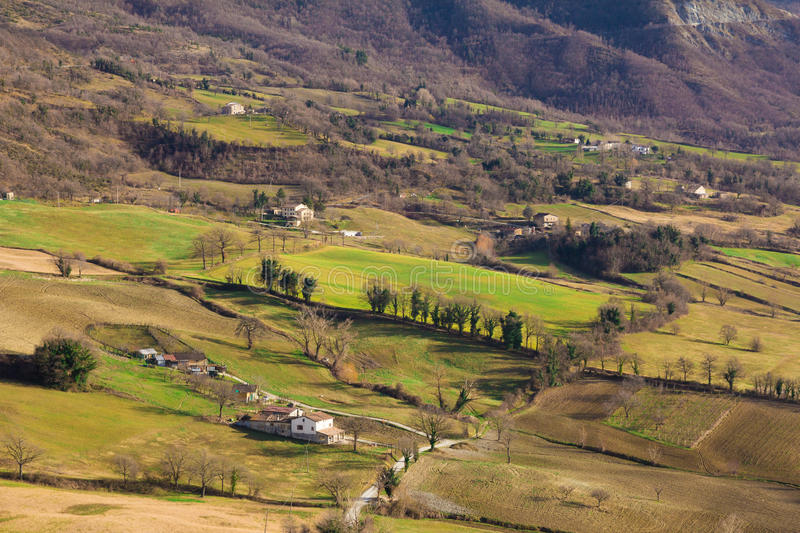 Landscape in Emilia Romagna (Italy) stock photography