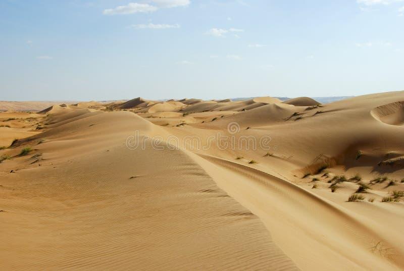 Landscape of Empty Quarter, Rub al Khali Desert stock image
