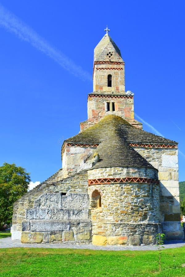 Nice Roman old Christian church IV century in the village Densus, Transylvania, Romaniaa royalty free stock photos
