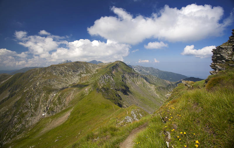 Landscape of Fagaras mountains in Romania royalty free stock image