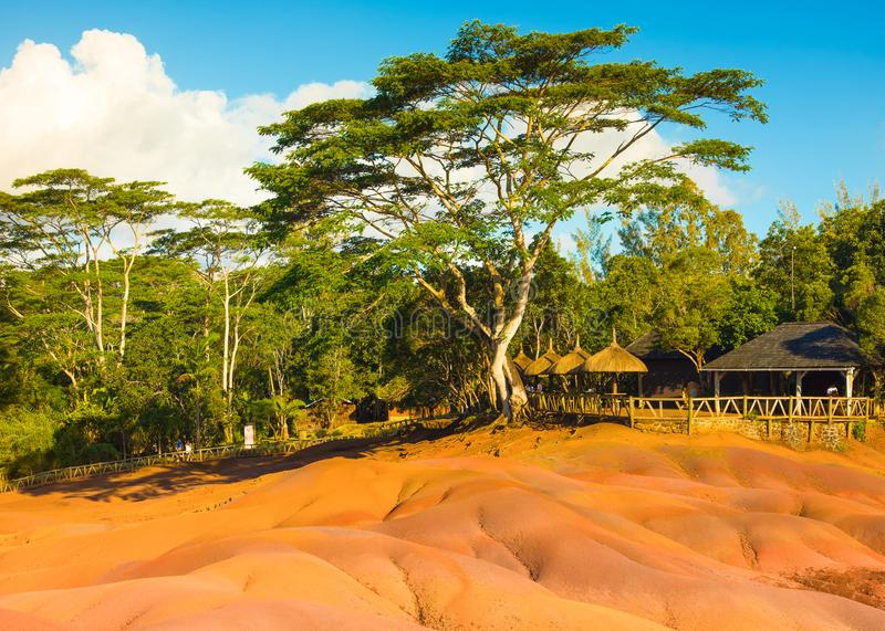 Landscape of famous nature landmark - The Seven Coloured Earth stock images