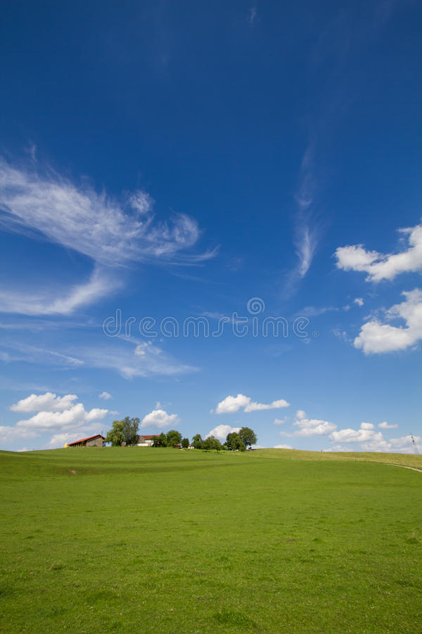 Download Landscape With Farm House In Bavaria, GER Stock Photo - Image: 25460000