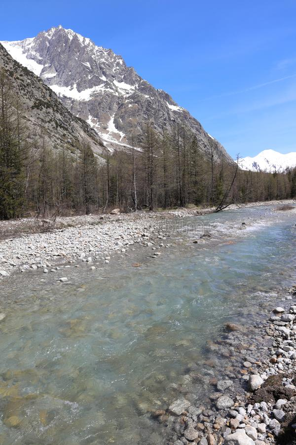 Landscape in Ferret Valley. Italy royalty free stock photo