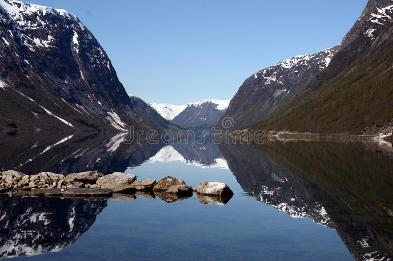 Landscape Of Fiord In Norway Stock Image