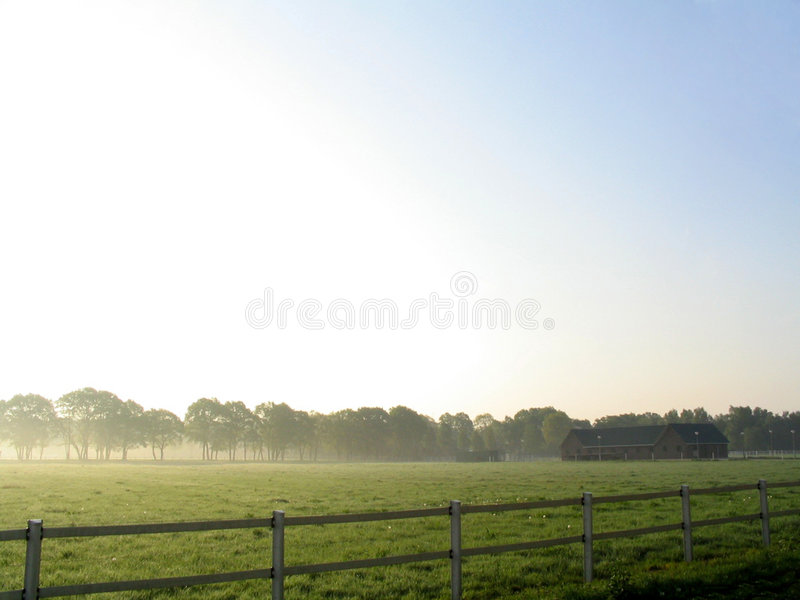 Download Landscape in fog stock photo. Image of holland, earth, farm - 7324