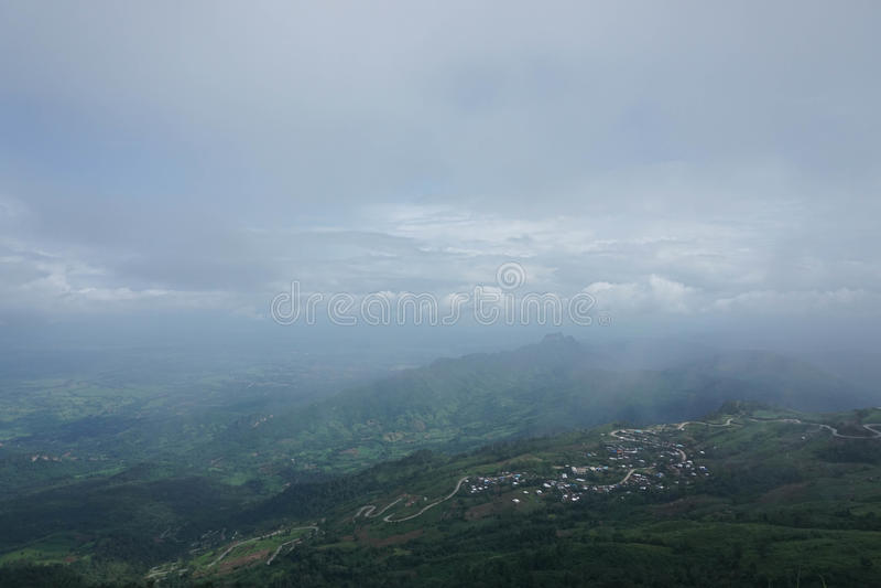 Landscape of foggy phutabberk royalty free stock photo