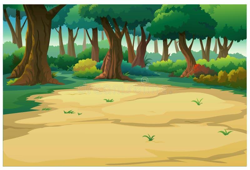 Landscape forest daytime so beautiful royalty free illustration