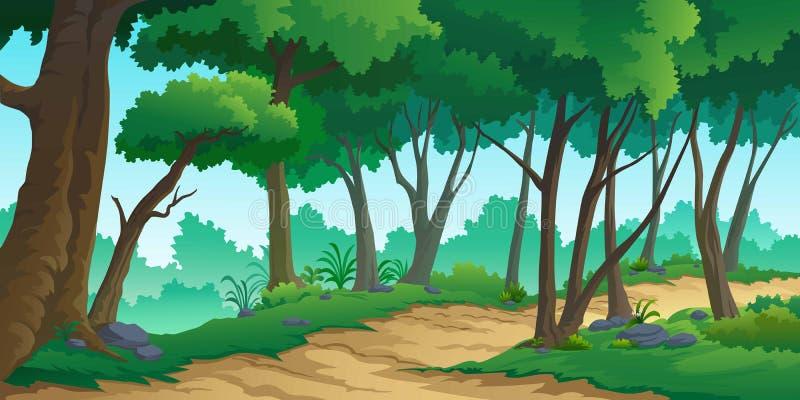 Landscape forest daytime so beautiful. royalty free illustration