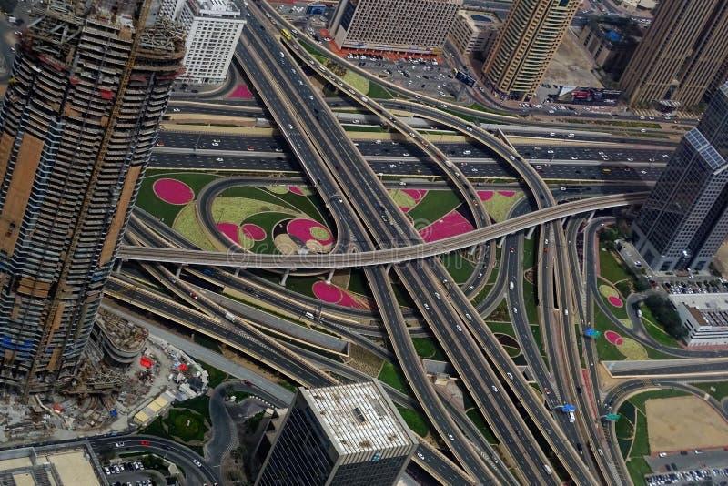 Dubai Intersection royalty free stock photography
