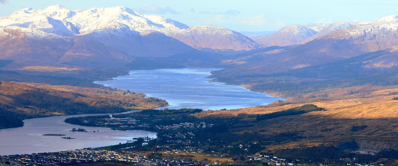 Landscape. Fort William. Wiev on a Scottish Highlands and Fort William royalty free stock photography