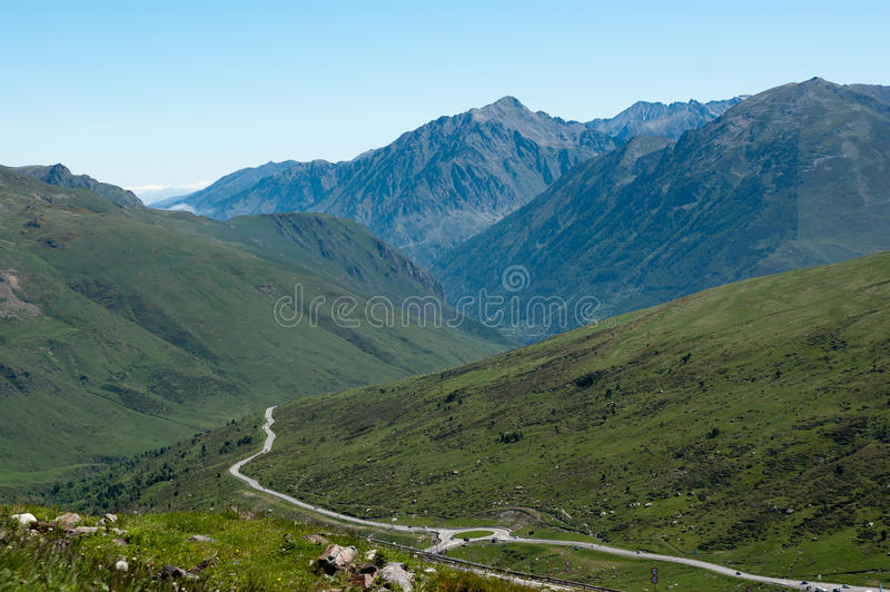 Landscape of French Pyrenees stock photos
