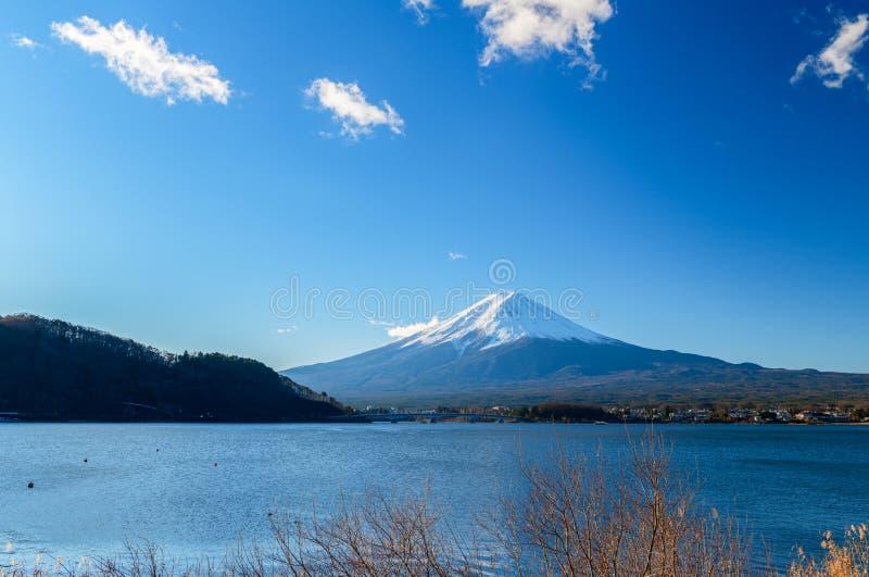 Landscape of Fuji Mountain at Lake Kawaguchiko, Japan royalty free stock image