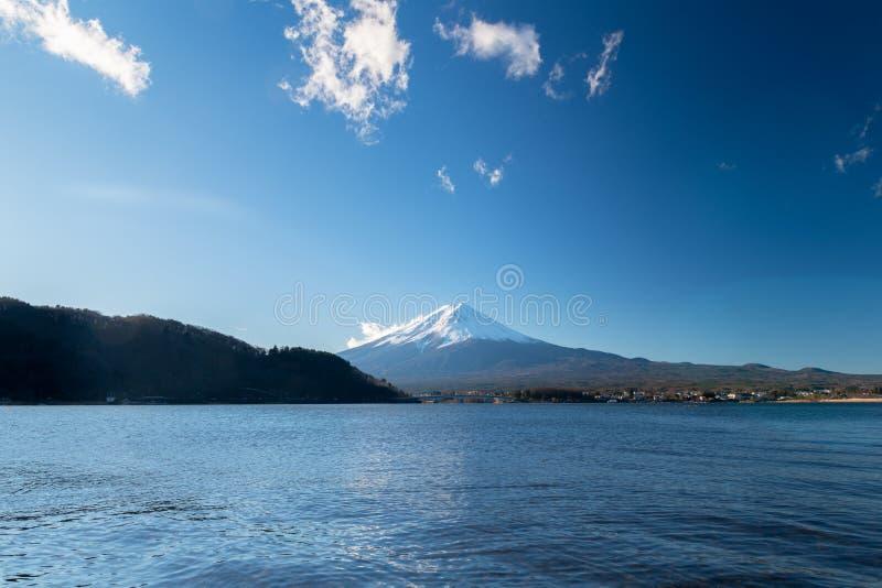 Landscape of Fuji Mountain at Lake Kawaguchiko, Japan royalty free stock photos