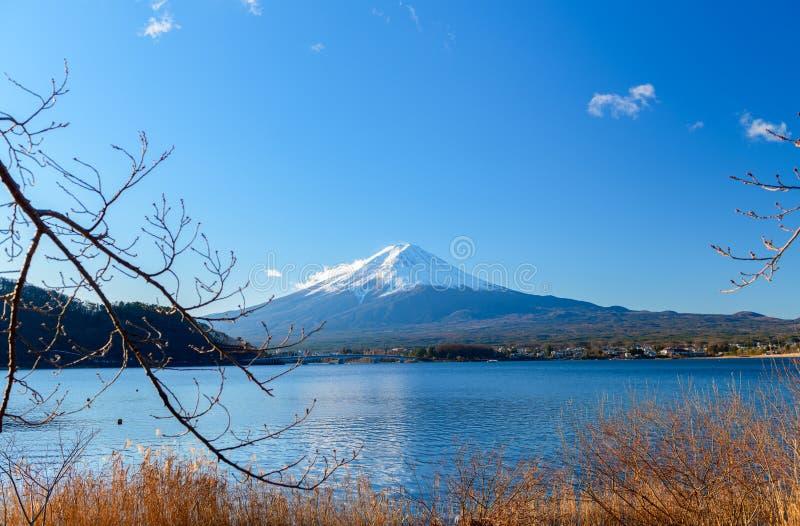 Landscape of Fuji Mountain at Lake Kawaguchiko stock photography