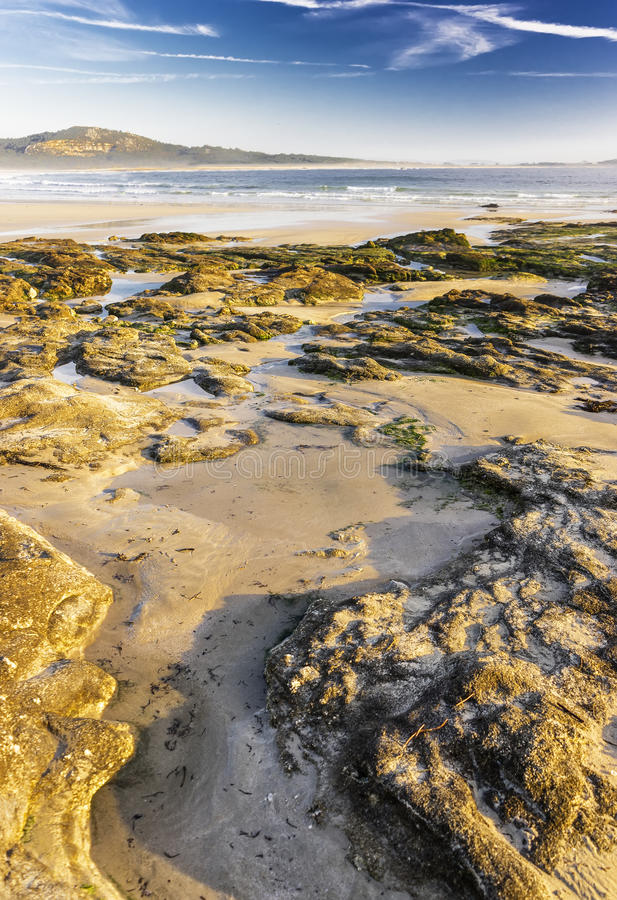 landscape of galicia royalty free stock images