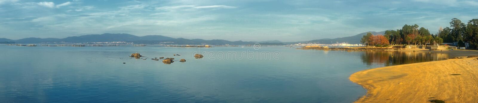 landscape of galicia royalty free stock photography