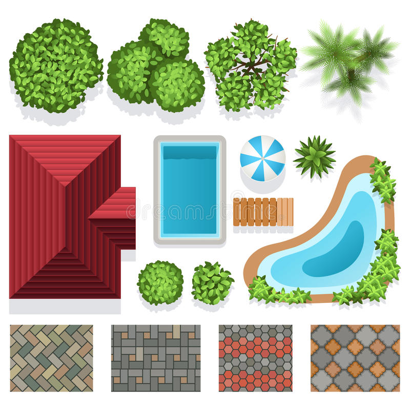 Download Landscape Garden Design Vector Elements Top View Stock Vector    Illustration Of Graphic, Garden