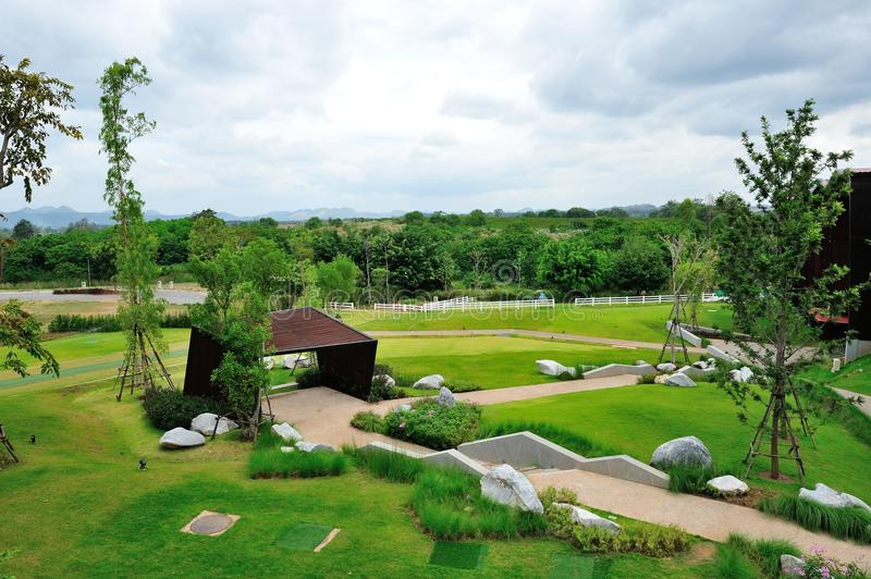 Download Landscape garden view stock photo. Image of asia, trees - 83702002