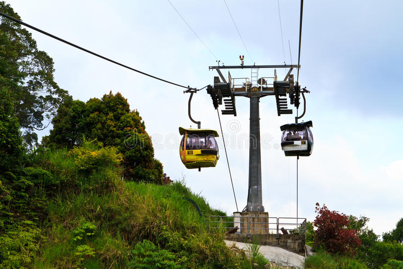 Landscape from Genting Malaysia. Cable car from Genting Malaysia royalty free stock photography