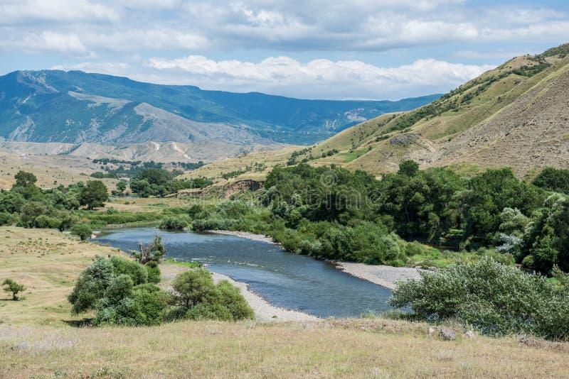 Landscape in Georgia royalty free stock photo