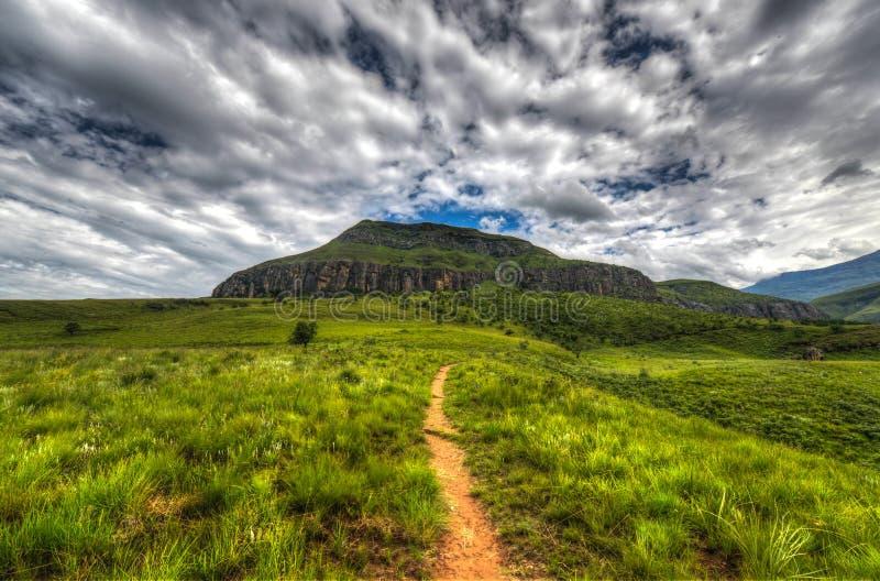 Landscape of Giants Castle Game Reserve stock photos