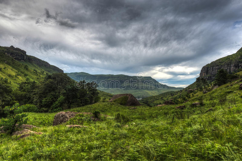 Landscape of Giants Castle Game Reserve royalty free stock photo