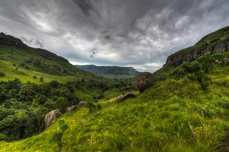 Landscape of Giants Castle Game Reserve royalty free stock photos