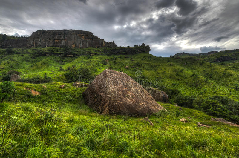 Landscape of Giants Castle Game Reserve royalty free stock images