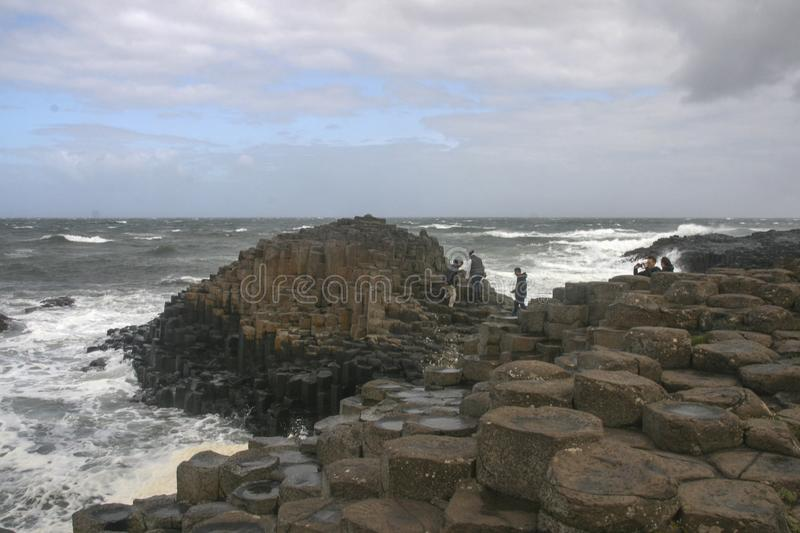 The landscape in giants causeway , northern ireland royalty free stock photography