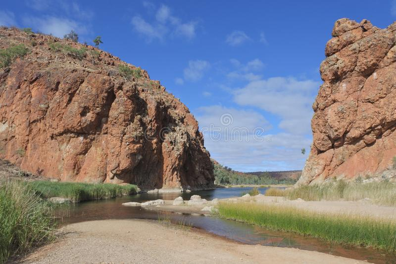 Glen Helen Gorge West MacDonnell National Park Northern Territory Australia royalty free stock photography