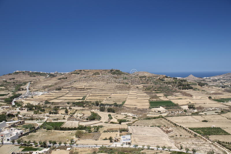 Landscape of Gozo royalty free stock image