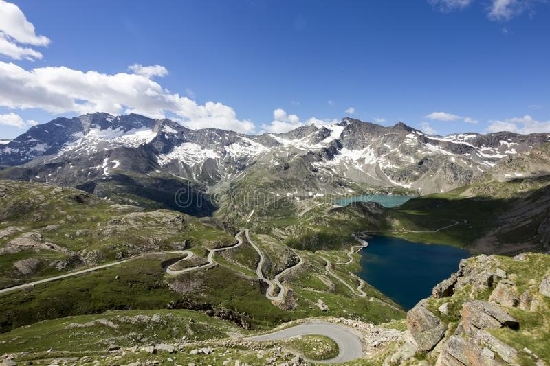 Landscape of Gran Paradiso national park. The wonderful landscape of Gran Paradiso national park, ceresole reale, colle del nivolet, lake serru and agnel royalty free stock photography