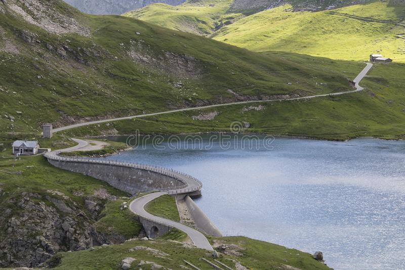 Landscape of Gran Paradiso national park. The wonderful landscape of Gran Paradiso national park, ceresole reale, colle del nivolet, lake serru and agnel stock images