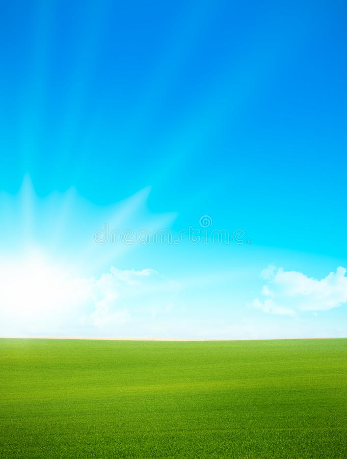 Free Landscape - Green Field And Blue Sky Royalty Free Stock Images - 13984999