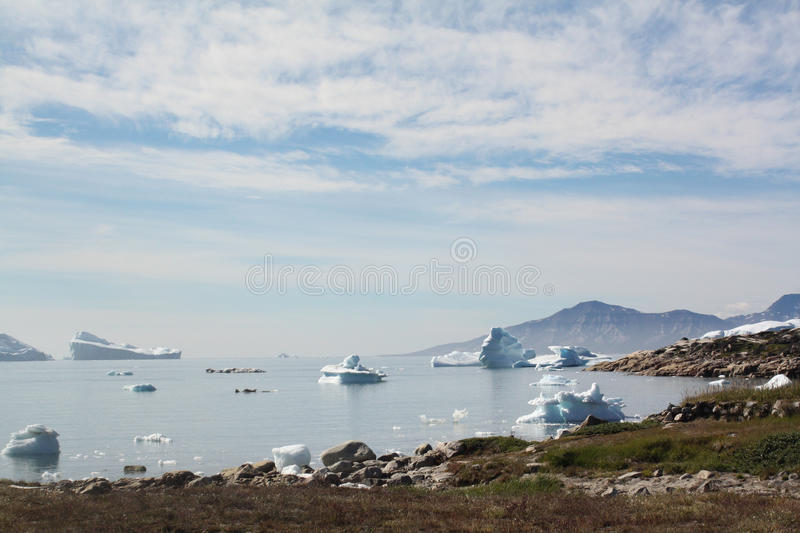 Landscape in Greenland. Bay at Saqqaq in Western Greenland royalty free stock photos