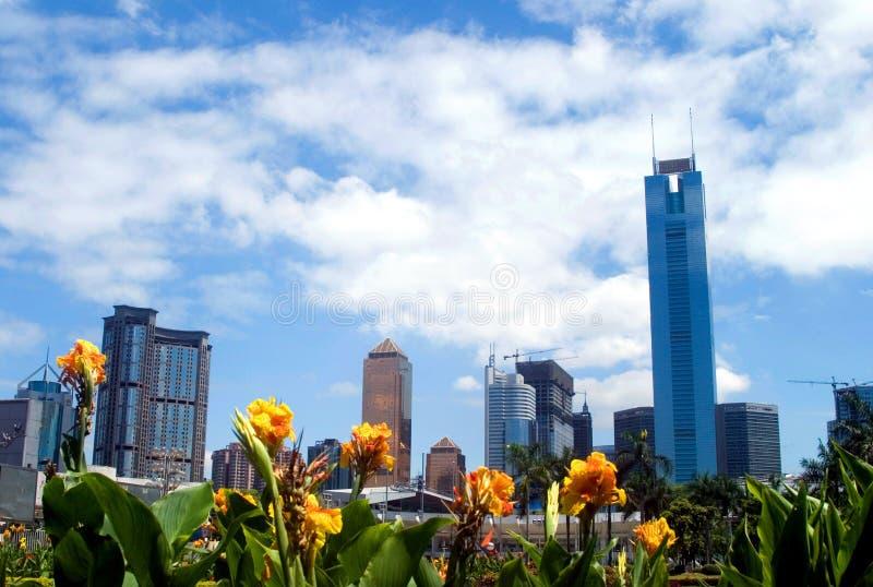 Landscape of guangzhou city stock photo