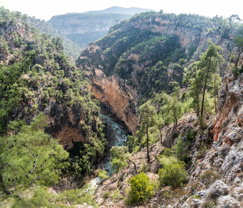 Guver Canyon in Antalya, Turkey. Landscape in Guver Canyon in Antalya, Turkey stock images