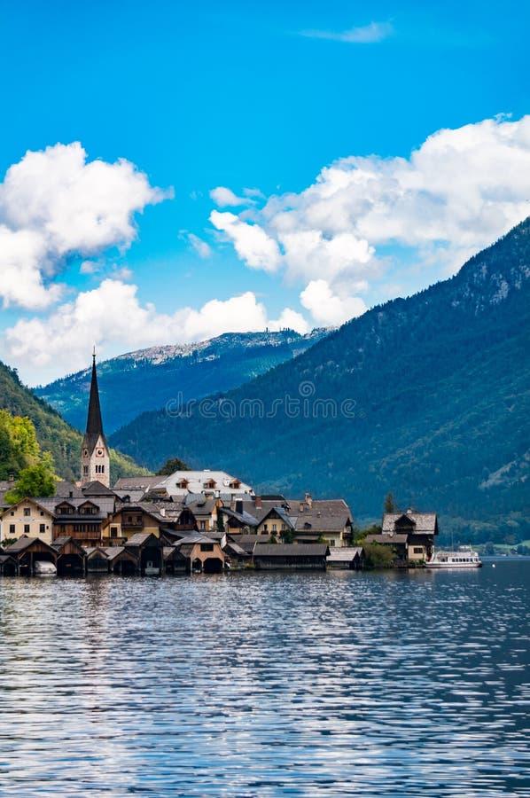Landscape in Hallstatt town royalty free stock image