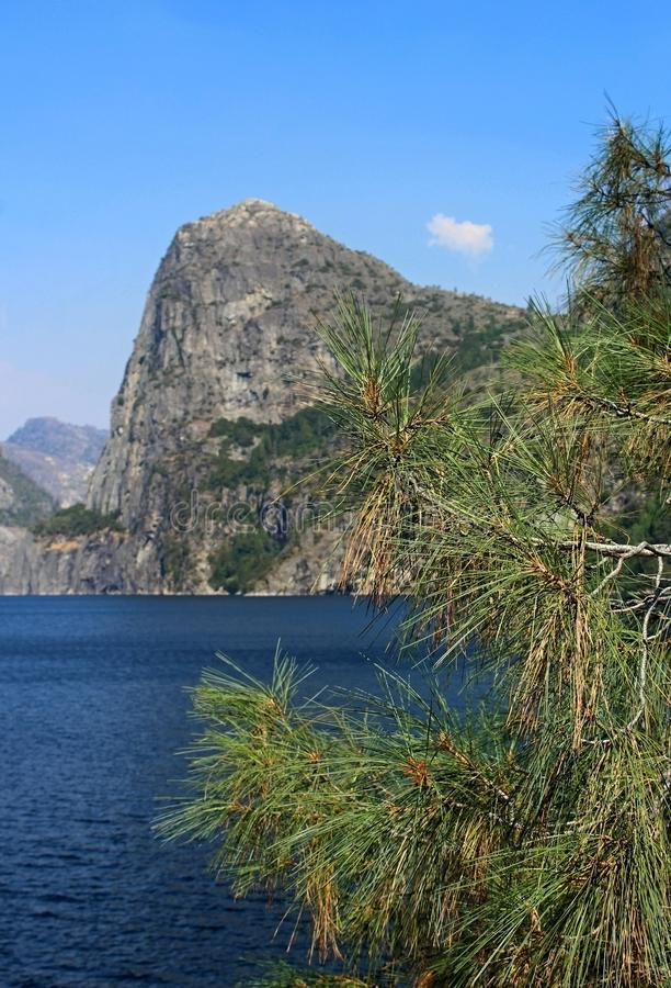 Landscape of Hetch hetchy Reservoir, Yosemite National Park. The beautiful and fabulous natural landscape of the Hetch hetchy Reservoir area of Yosemite National stock images