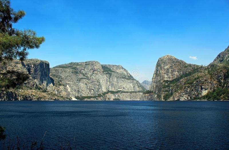 Landscape of Hetch hetchy Reservoir, Yosemite National Park. The beautiful and fabulous natural landscape of the Hetch hetchy Reservoir area of Yosemite National stock photography