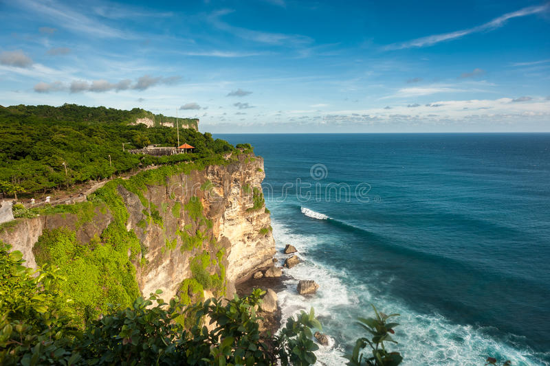 Landscape of High Cliff on a Sunny Day royalty free stock image