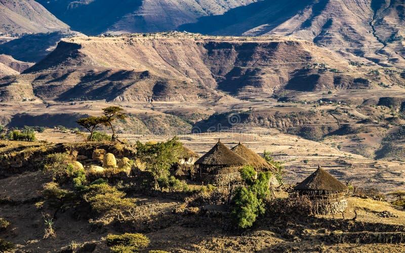 Landscape in the highlands of Lalibela, Ethiopia stock image
