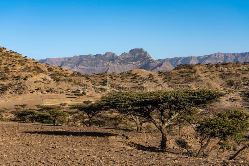 Landscape in the highlands of Lalibela, Ethiopia stock photos