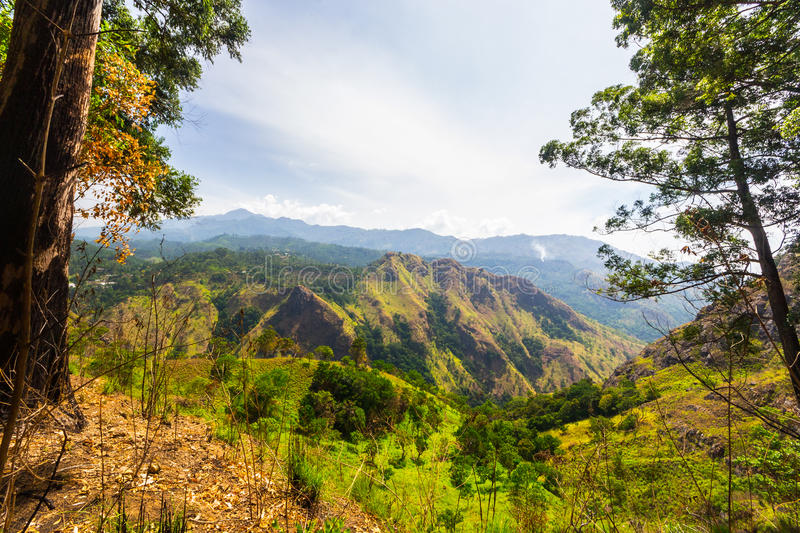 Landscape in the Hill Country of Sri Lanka royalty free stock photo