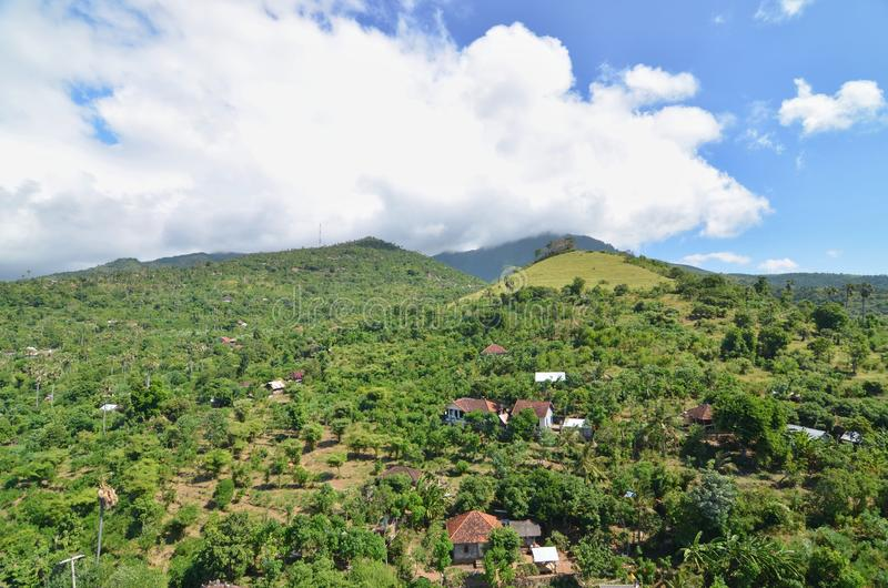 Hills Near By Amed, Bali, Indonesia stock photos
