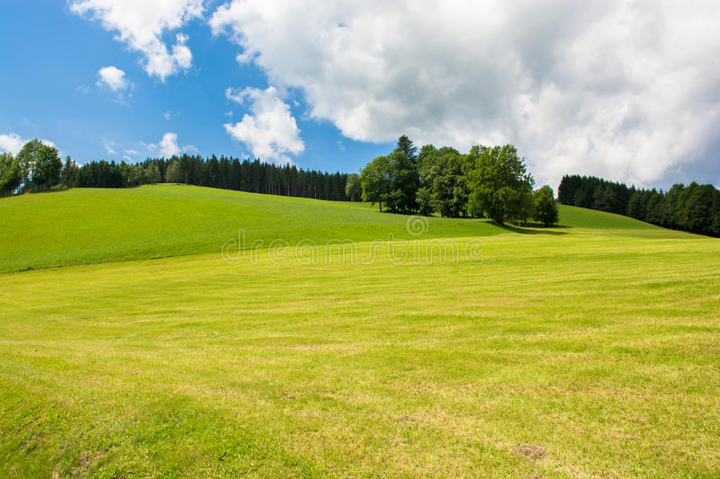 Landscape with hills in Austria royalty free stock image